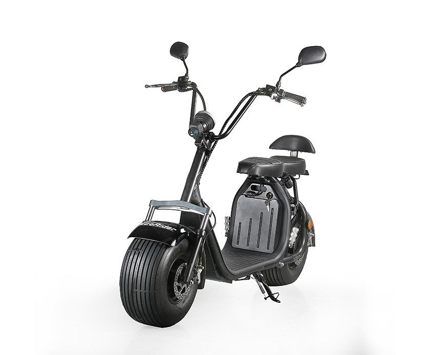 EcoRider 2 Wheel Electric Scooter Big Battery Power 60v 1500w Front Shock Absorber Citycoco